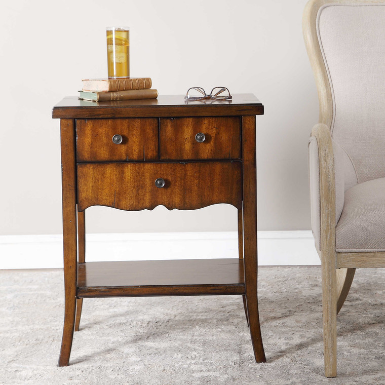 Uttermost Carmel Wood End Table 24140