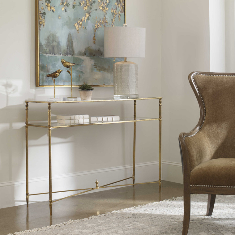 Uttermost Henzler Mirrored Glass Console Table 24278