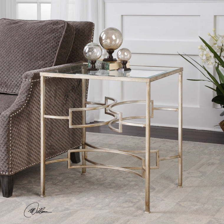 Uttermost Eilinora Silver End Table 24635