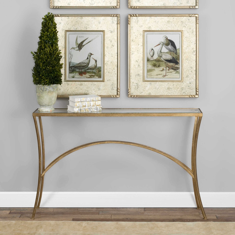 Uttermost Alayna Gold Console Table 24640