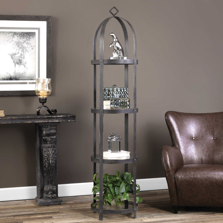 Uttermost Welch Industrial Iron Etagere 24675