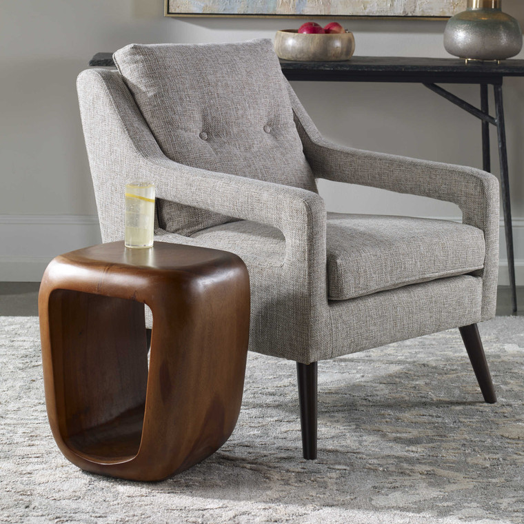 Uttermost Loophole Wooden Accent Stool 25457