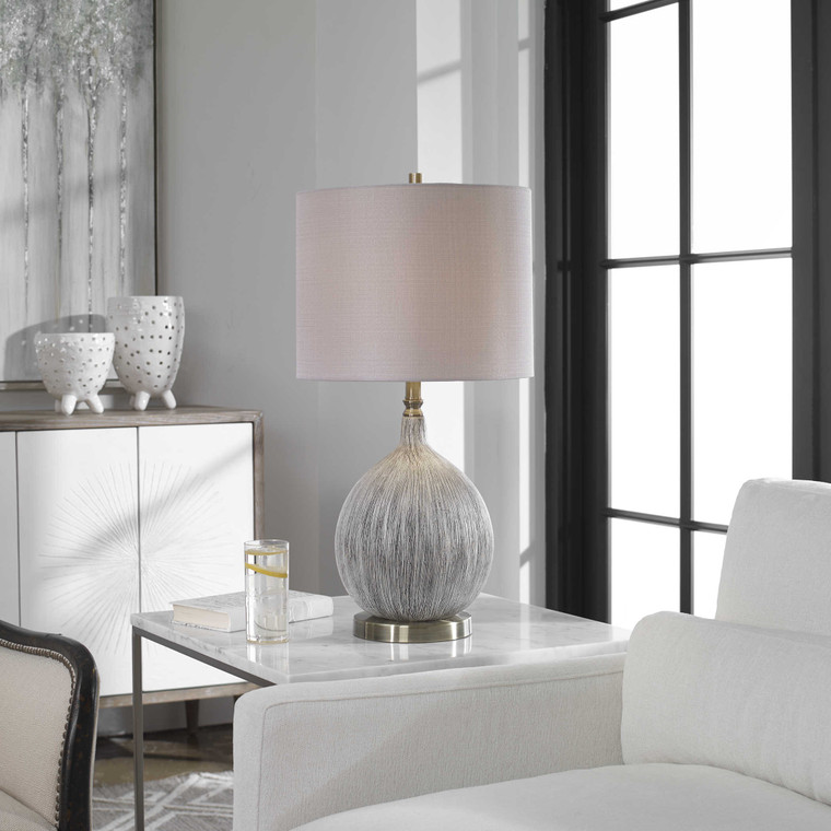 Uttermost Hedera Textured Ivory Table Lamp 27715-1