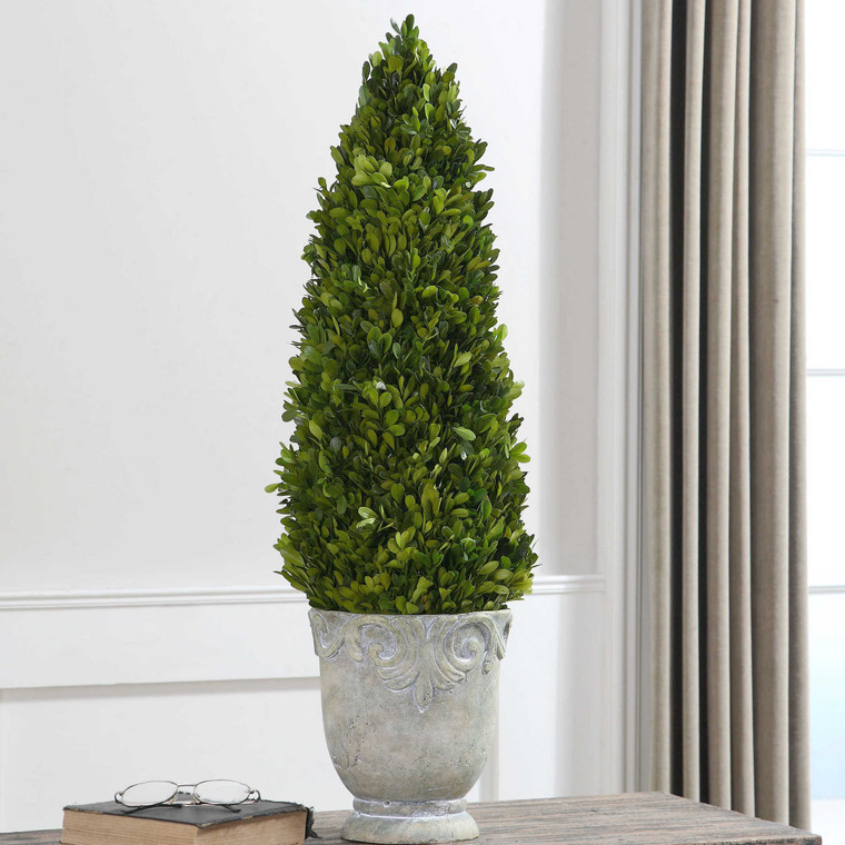 Uttermost Boxwood Cone Topiary 60111