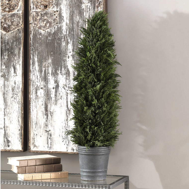 Uttermost Cypress Cone Topiary 60139
