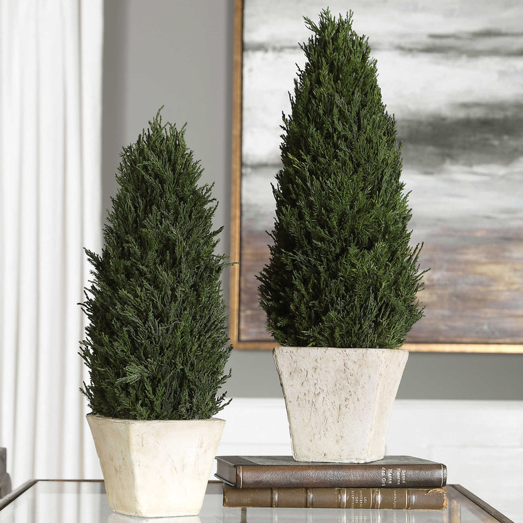 Uttermost Cypress Cone Topiaries, S/2 60140