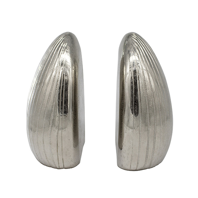 Worlds Away Gino Hand Textured Antique Nickel Bookends GINO AN