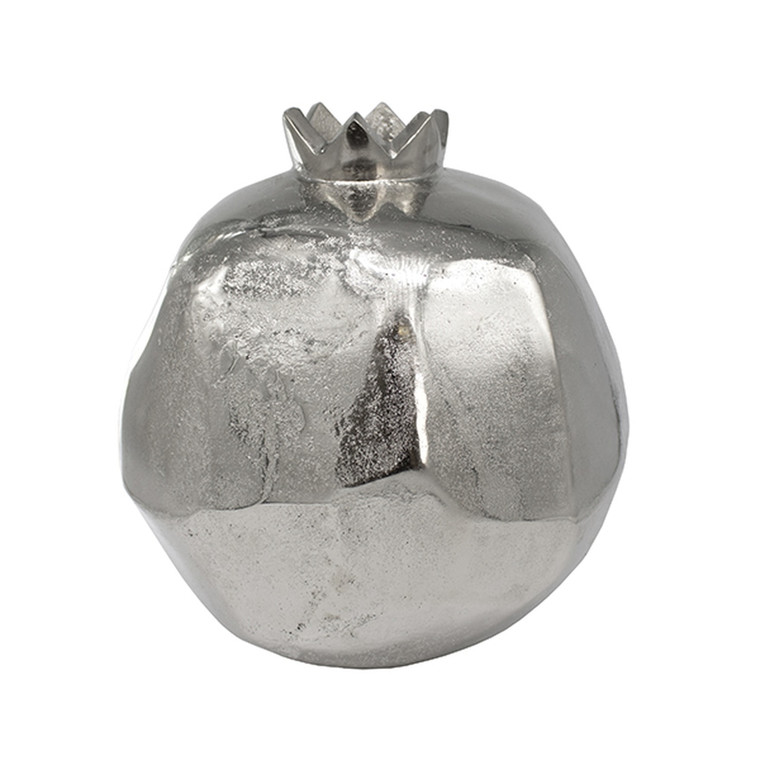 Worlds Away Pomegranate Small Handmade Vase in Silver POMEGRANATE SM S