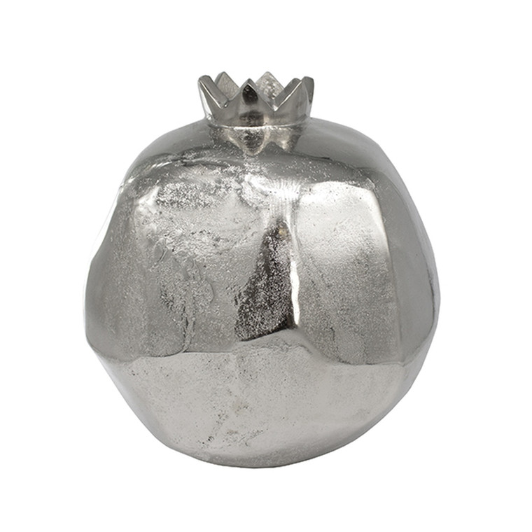 Worlds Away Pomegranate Large Handmade Vase in Silver POMEGRANATE LG S