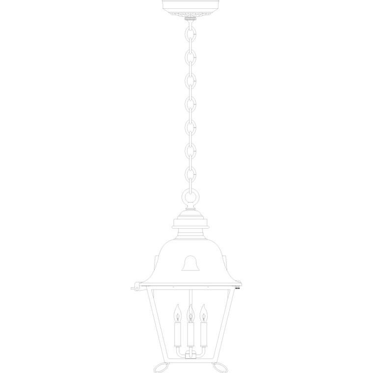 Hanover Lantern B8419 Grand Jefferson Signature Hanging Lantern
