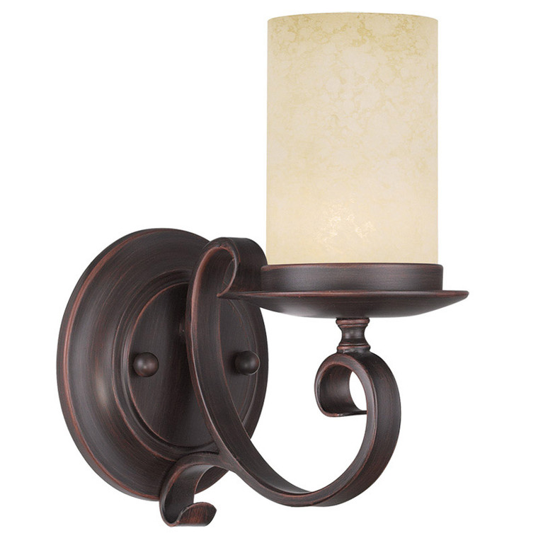 Livex Lighting Millburn Manor Collection 1 Light Imperial Bronze Wall Sconce in Imperial Bronze 5481-58