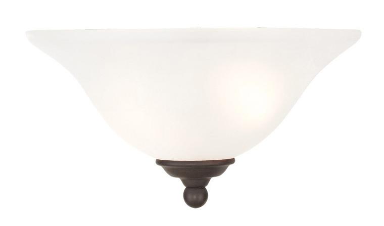 Livex Lighting Coronado Collection 1 Light Bronze Wall Sconce in Bronze 6120-07