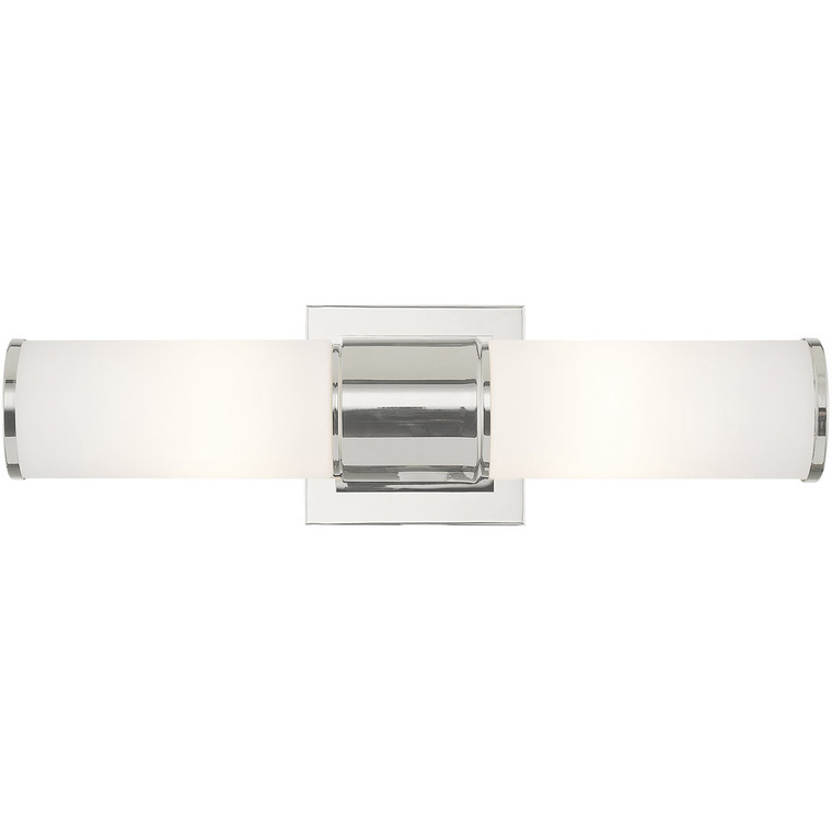 Livex Lighting Weston Collection 2 Light PN Wall Sconce/ Bath Light in Polished Nickel 52122-35