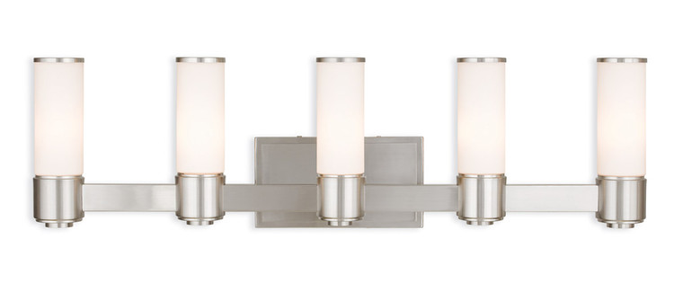 Livex Lighting Weston Collection 5 Light BN Wall Sconce/ Bath Light in Brushed Nickel 52125-91