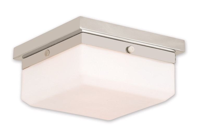 Livex Lighting Allure Collection 2 Light PN Wall Sconce/Ceiling Mount in Polished Nickel 65536-35
