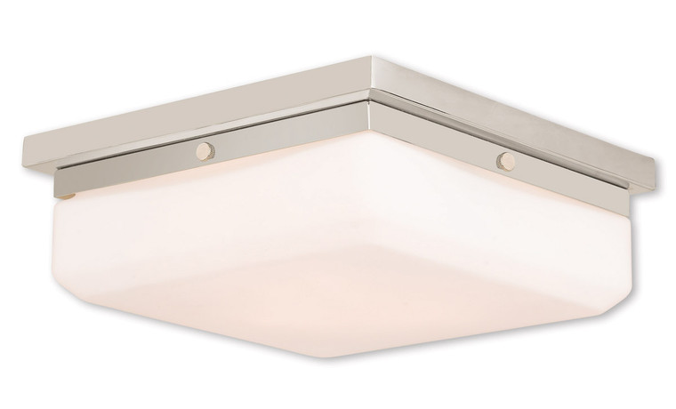 Livex Lighting Allure Collection 3 Light PN Wall Sconce/Ceiling Mount in Polished Nickel 65537-35