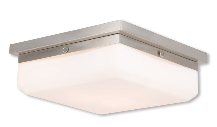 Livex Lighting Allure Collection 3 Light BN Wall Sconce/Ceiling Mount in Brushed Nickel 65537-91