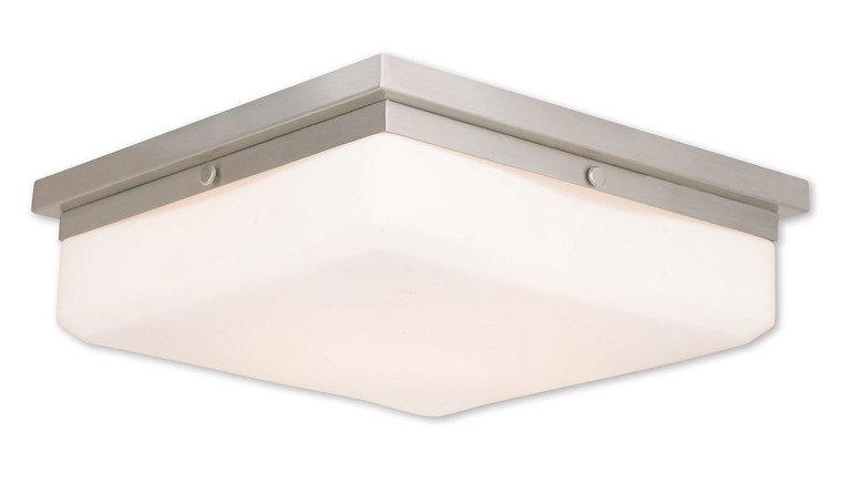 Livex Lighting Allure Collection 4 Light BN Wall Sconce/Ceiling Mount in Brushed Nickel 65538-91