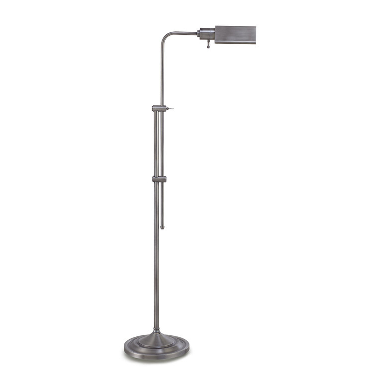 Lite Master Anton Floor Lamp in Antique Nickel on Solid Brass Finish F5614AN