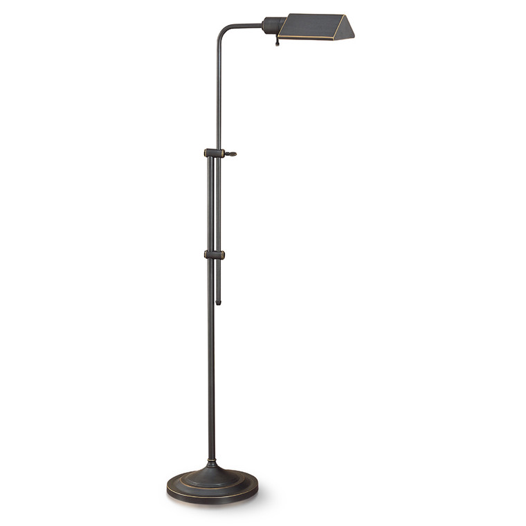 Lite Master Anton Floor Lamp in Oil Rubbed Bronze on Solid Brass Finish F5614RZ