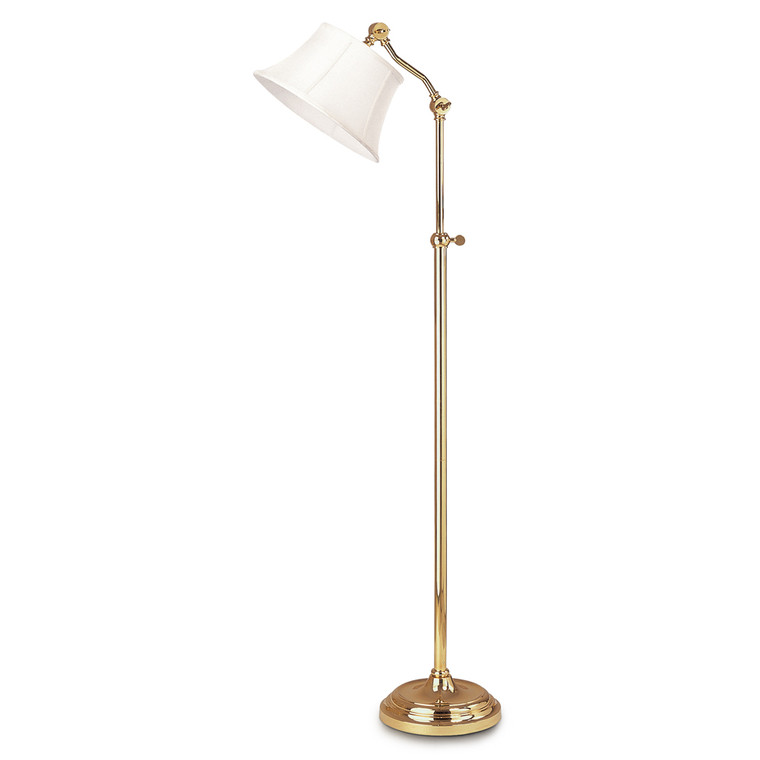 Lite Master Dorest Adjustable Floor Lamp Polished Solid Brass F5616PB-SL