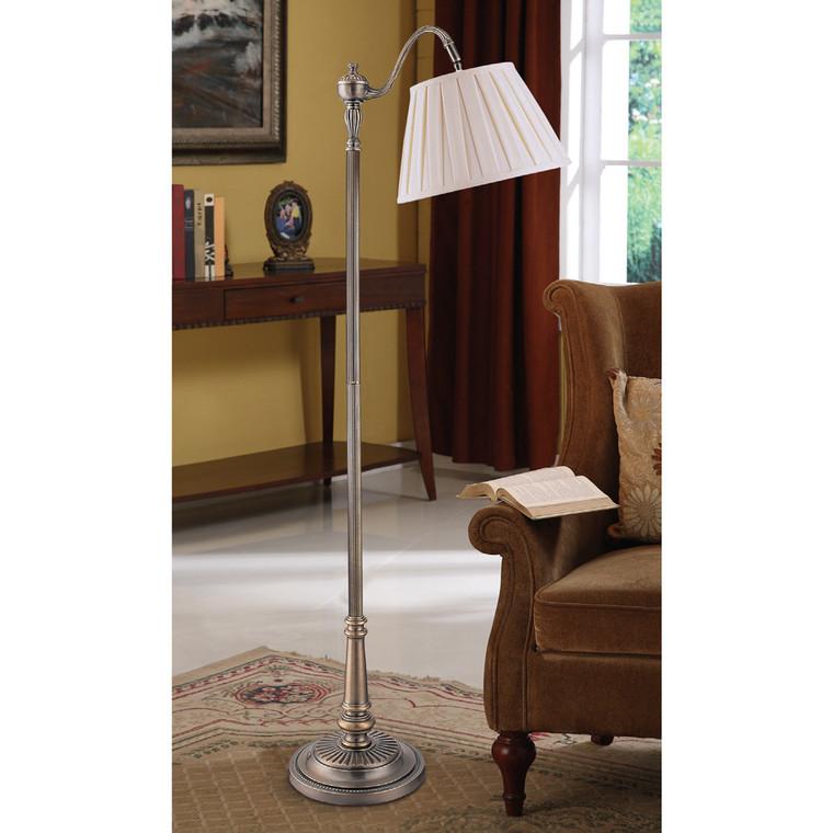 Lite Master Jaclyn Floor Lamp in Dark Solid Brass Finish F7387DB-SR