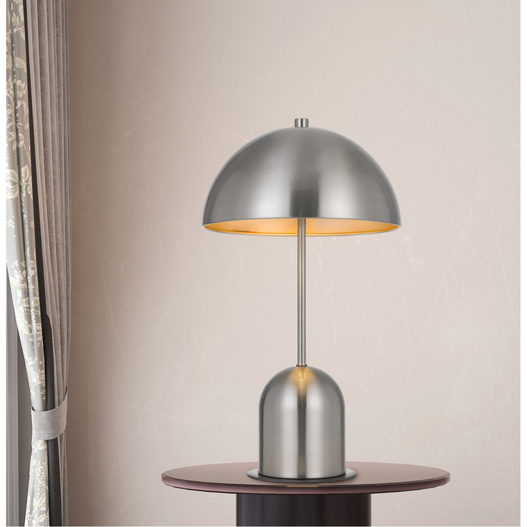 CAL Lighting 40W Peppa metal accent lamp with on off touch sensor switch BO-2978DK-BS