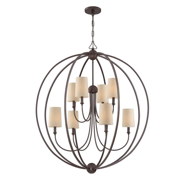 Crystorama Libby Langdon for Crystorama Sylvan 8 Light Dark Bronze Chandelier 2246-DB