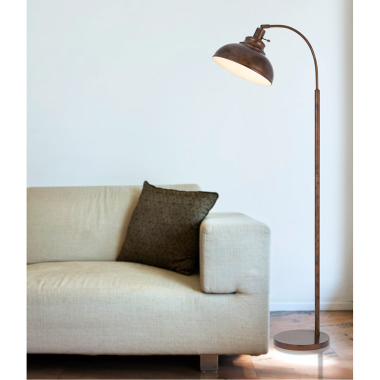 CAL Lighting 60W Dijon adjustable metal floor lamp with weight base and on off socket switch BO-2964FL-RU