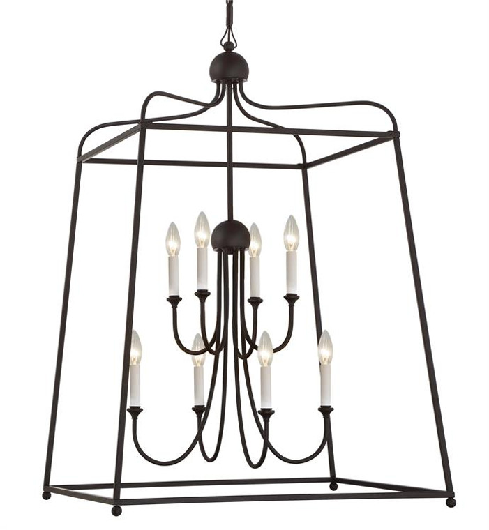 Crystorama Libby Langdon for Crystorama Sylvan 8 Light Dark Bronze Chandelier 2248-DB_NOSHADE