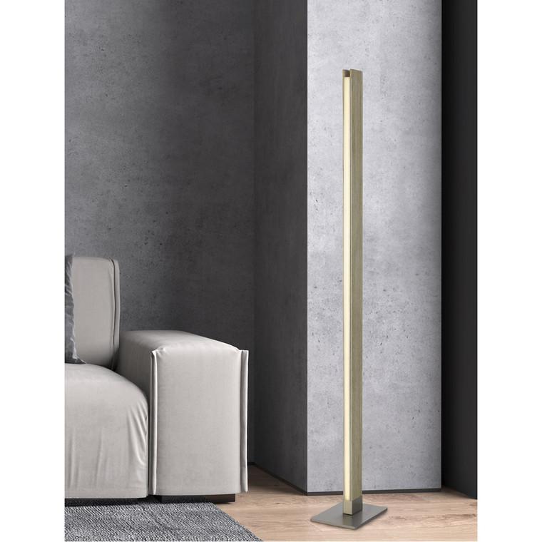 CAL Lighting Colmar integrated LED Rubber wood floor lamp with dimmer control. 24W, 2100 lumen, 3000K. BO-2965FL