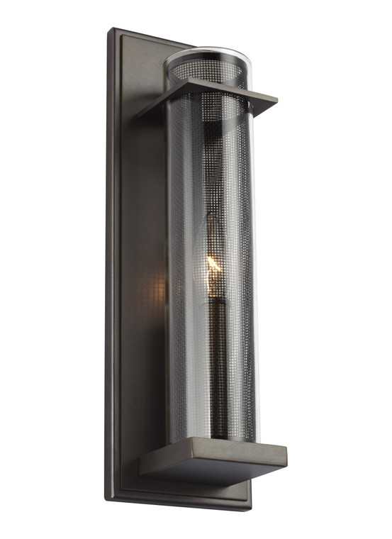 Feiss Silo 1 - Light Wall Sconce in Antique Bronze