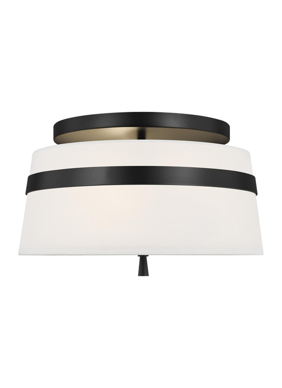 AH - Alexa Hampton Lighting Cordtlandt 3 - Light Small Flush Mount in Aged Iron