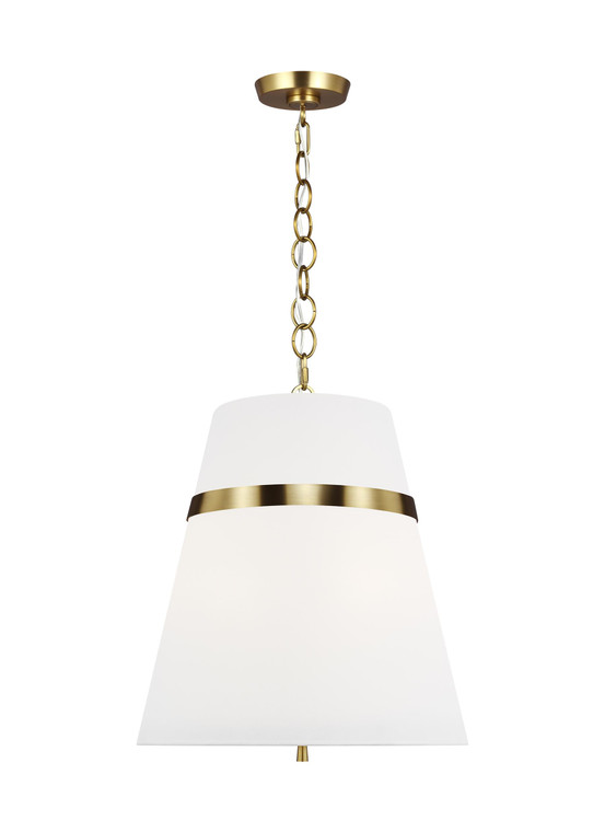 AH - Alexa Hampton Lighting Cordtlandt 3 - Light Large Pendant in Burnished Brass