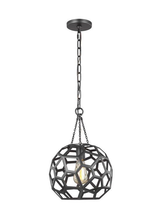 AH - Alexa Hampton Lighting Feccetta 1 - Light Small Pendant in Midnight Black