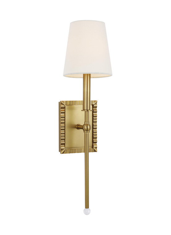 AH - Alexa Hampton Lighting Baxley 1 - Light Sconce in Burnished Brass