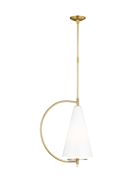 Kelly by Kelly Wearstler Gesture 1 - Light Tall Pendant in Burnished Brass