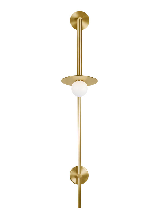 Kelly by Kelly Wearstler Nodes 1 - Light Large Pivot Wall Sconce in Burnished Brass