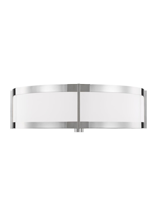 Lauren by Ralph Lauren Flynn 3 - Light Flush Mount in Polished Nickel