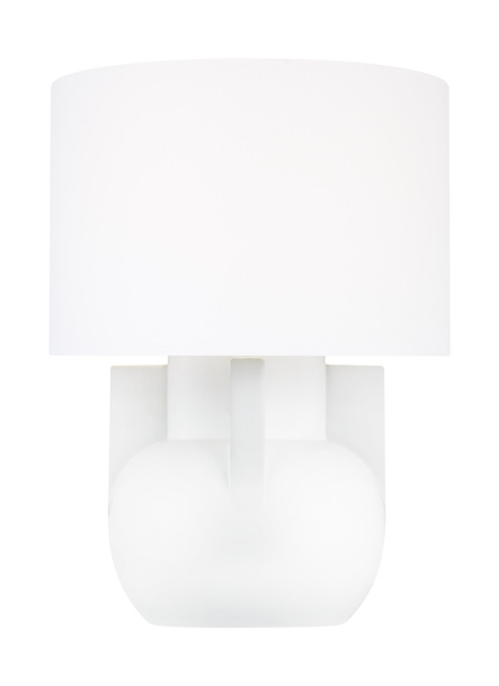 Lauren by Ralph Lauren William 1 - Light Wide Table Lamp in Matte Ivory