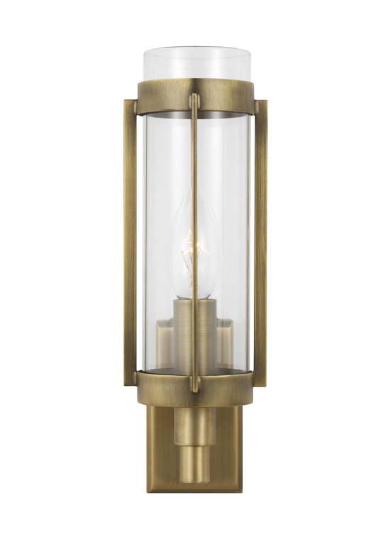 Lauren by Ralph Lauren Flynn 1 - Light Wall Sconce in Time Worn Brass