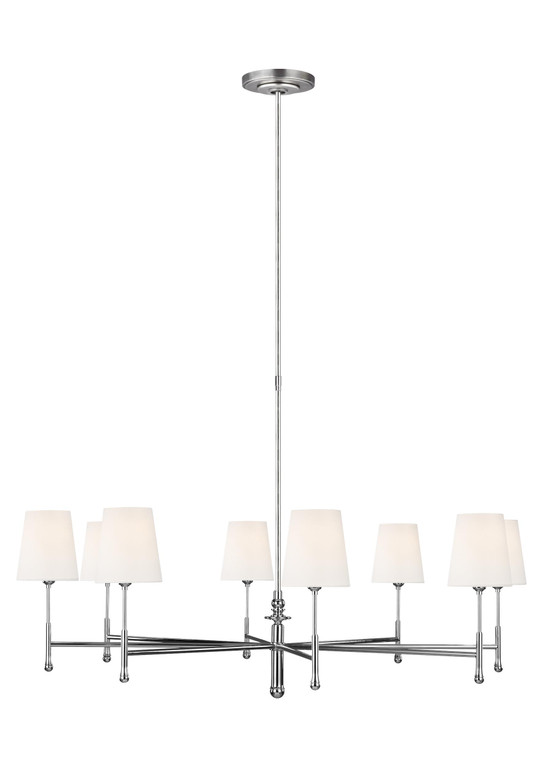 TOB by Thomas O'Brien Capri 8 - Light Chandelier in Polished Nickel