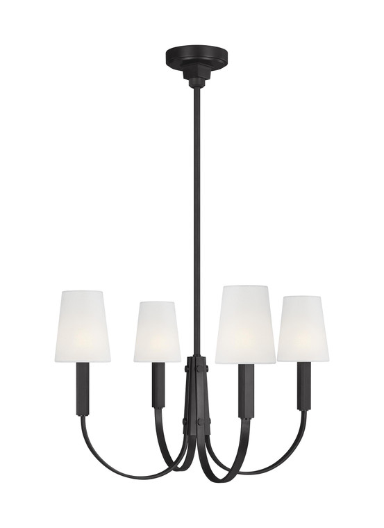 TOB by Thomas O'Brien Logan 4 - Light Chandelier in Aged Iron