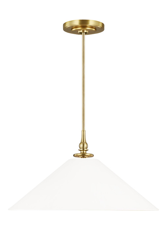 TOB by Thomas O'Brien Capri 1 - Light Pendant in Burnished Brass / Antique White