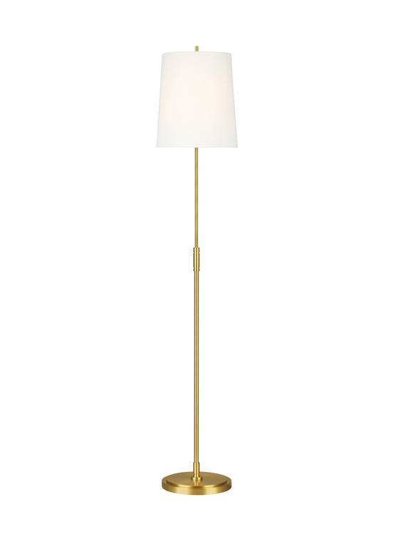 TOB by Thomas O'Brien Beckham Classic 1 - Light Floor Lamp in Burnished Brass