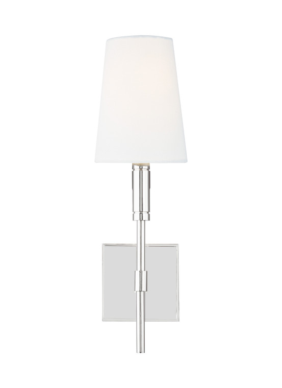 TOB by Thomas O'Brien Beckham Classic 1 - Light Wall Sconce in Polished Nickel