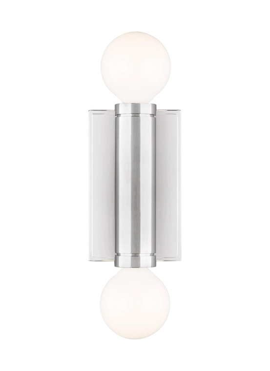 TOB by Thomas O'Brien Beckham Modern 2 - Light Wall Sconce in Polished Nickel