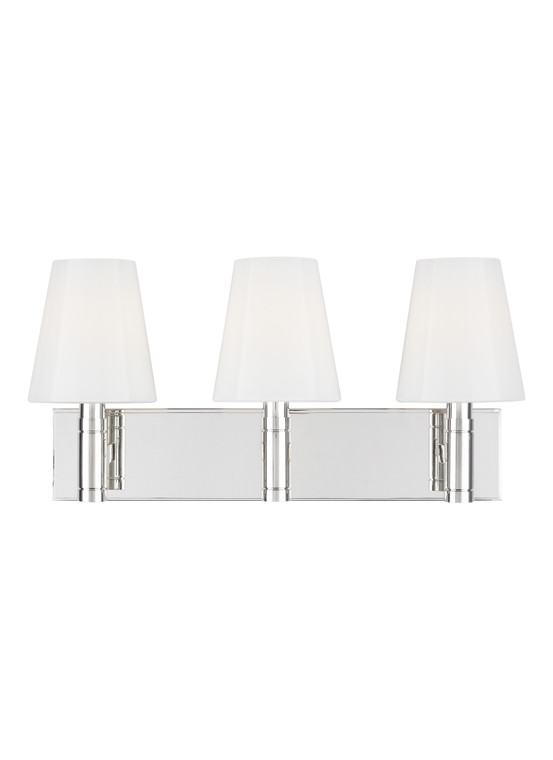 TOB by Thomas O'Brien Beckham Classic 3 - Light Vanity in Polished Nickel