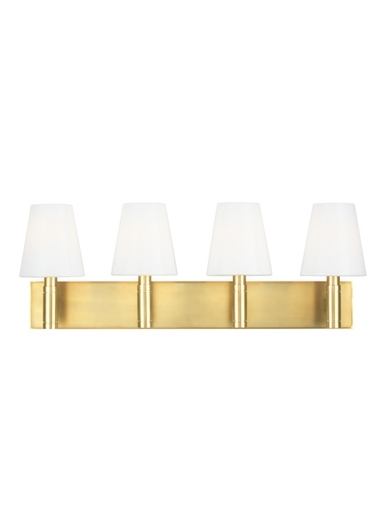 TOB by Thomas O'Brien Beckham Classic 4 - Light Vanity in Burnished Brass