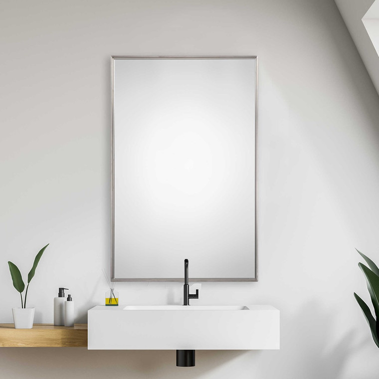Lily Lifestyle Mirror Brushed Stainless Steel W00411